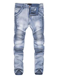 Jean homme en denim unicolore mode street style automne Jeans