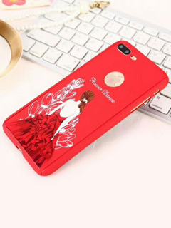 ec840e33d48 Funda de teléfono Chica Ballet Girl Print TPU Cubierta del teléfono para  iPhone 7 IPhone 8