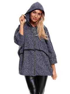 Women's Hoodie Jacket Tweed Oversized Zip Up Hoodie