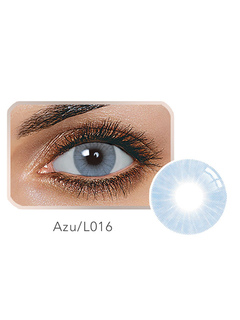 Color Contact Lens Azure Blue Balafilcon Small Size Yearly Contact Colored