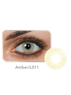 Contact Color Lens Amber Balafilcon Small Size Yearly Colored Con