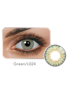 Contact Color Lens Balafilcon Tri Color Green Yearly Colored Contact