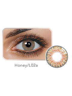 Color Contact Lens Sweet Honey Brown Tri Color Yearly Contact Colored