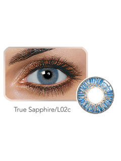 Blue Colored Contact True Sapphire Tri Color Yearly Color Contact Lens