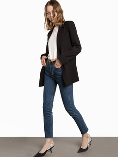 Black Blazer Jacket Women Long Sleeve Turndown Collar Casual Suit