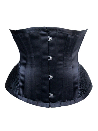 Black Waist Trainer Lace Up Sleeveless Jacquard Extreme Curves Body Shaper For Women