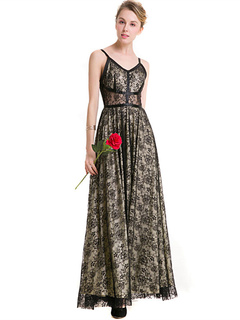 Black Lace Dress Women Straps Sleeveless Maxi Dresses For Women