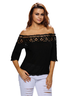 Women's White Blouse Off The Shoulder Half Sleeve Elegant Top