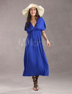 Élégante Sexy profond col rayonne Womens Maxi Dress 1f294a7a241