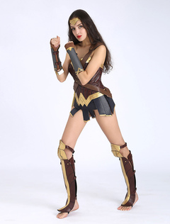 Wonder Woman Cosplay Costume Diana Prince DC Comics Cosplay Full Set Deluxe  Edition Halloween 25e56efce5a2