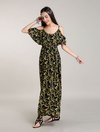 Bohemian Maxi Dresses Amazon Floral Printed Summer Dress Off Shoulder Boho Long Dresses