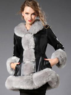 Faux Fur Coat White Women's Long Sleeve Winter Coat