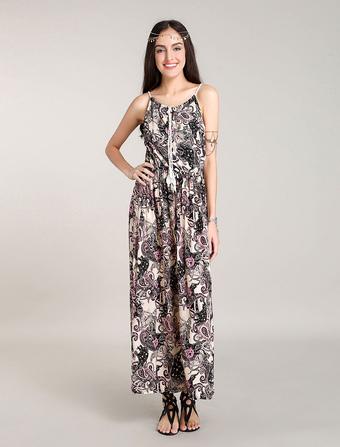 Boho Dresses Maxi Floral Dress Printed Bohemian Summer Beach Dress