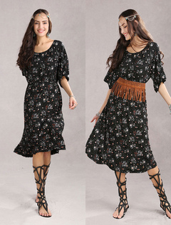 Vintage Red Floral 70% Cotton 30% Spandex Womens Dress