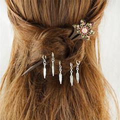 Ecru White Hairpin Boho Embossed Women's Chic Headpieces