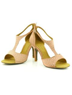 Tobillo correa zapatos Open Toe raso cuerda bobina talón baile zapatos de baile de mujeres ymCw2Ph