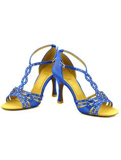 Zapatos de baile metálica tobillo correa suave único Open Toe baile zapatos de baile Womens VesBAoE