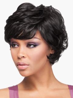 Black Human Hair Short Wigs for Women