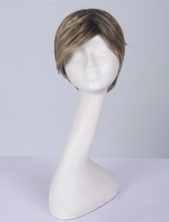 Highlighting Hair Wig Layered Side Parting Light Brown Heat Resistant Wig