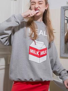 Long Sleeve Sweatshirt Women Letter Printed Long Sleeve Grey Top