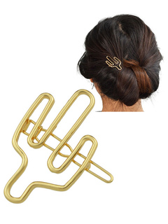 Gold Hair Accessories Women Shaped Hairpin Hair Clip