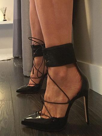 Zapatos de tacón medio de puntera puntiaguada de tacón de kitten estilo moderno para pasar por la noche de franela FPDP3