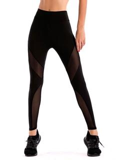 Women Black Leggings Elastic Waist Skinny Gym Long Leggings