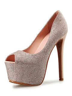 Zapatos de tacón medio de puntera puntiaguada de tacón irregular estilo modernopara pasar por la noche Piel sintética aW51UYg