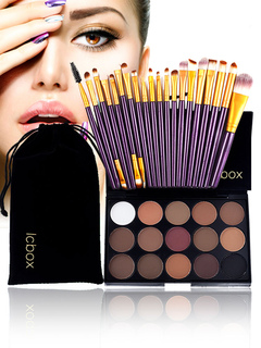 Women Makeup Set 15 Color Eye Shadow Makeup Palette With 20 Piece Makeup Brushes
