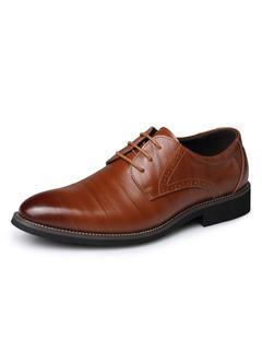 e5b7959f91 Zapatos de vestir Planos de puntera puntiaguada de cuero de dos tonos  estilo modernopara hombre Verano