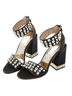 de de mujeres marrón las verano punta abierta sandalias de Sandalias diapositivas sandalias respaldo sin planas de AxBqwUdz