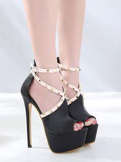 Zapatos planos Planos con cinta en la tobillera de puntera puntiaguada para mujer estilo moderno de color-blocking estilo street wear rps2xwkR