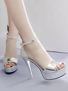 Zapatillas sandalias sin respaldo sandalias de tacón alto para mujeres Tocu3ZJ