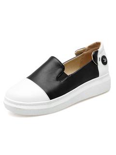 Zapatos casuales blancos Zapatos planos de mujer Resbalón de detalle de oreja de conejo de punta redonda en los zapatos rnJ4bW