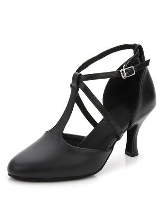 7ba5b0ce Zapatos de Baile Latino Negro 2019 Zapatos de Salón de Baile con Punta  Puntiguada Tipo de