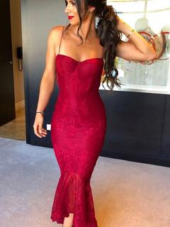 a0c59ce147 Vestido de fiesta sexy encaje vestido de sirena correas vestido de verano  bajo