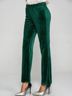 af4071856d Pantalón de terciopelo para mujer Cintura elástica Pantalón de pierna  acampanada