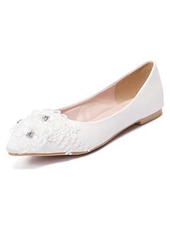 Produits Mode Intelligente Sandale blanche La plate Vie Mariage De f7Y6yvbg