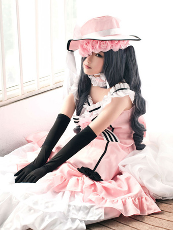 0808a4d6f Black Butler Kuroshitsuji Ciel Halloween Cosplay Costume Pink Lolita Dress  Version Halloween