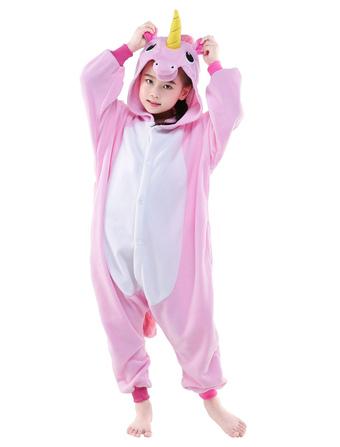 36d4304b059e Kigurumi Pajama 2019 Розовый Единорог Единорога Onesie Kid Flannel Костюм  для пижамы Хэллоуин