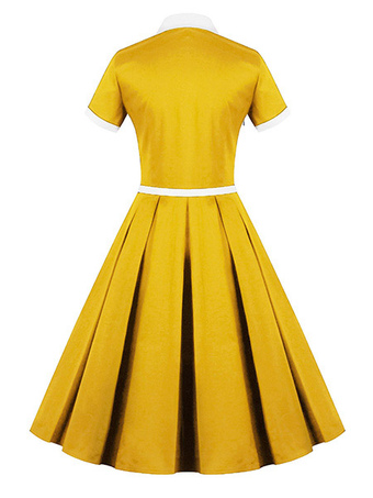 Vintage Kleider Rockabilly Kleid Petticoat Kleid 50er Jahre Kleid 50er Kleider Retro Kleider Vintage Kleid Vintage Mode Milanoo Com