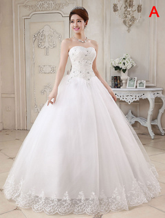 31bcdfd2462 Princess Wedding Dresses Ivory Ball Gown Bridal Dress Strapless Sweetheart  Neck Lace Beaded Pleated Wedding Gown