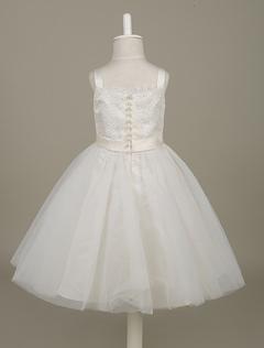 585cd0348011 Bianco fiore ragazza abiti in pizzo e Tulle bordato cena vestito di Tutu  vestito senza maniche. Anteprima Lista dei desideri