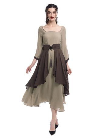 bc8d778e9 Renacimiento vestidos victorianos Retro medieval trajes irlandeses vestido