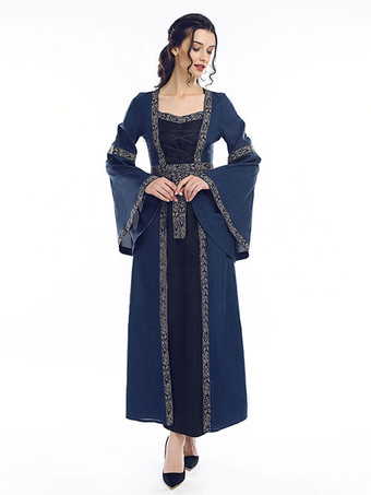 b58a2003c Vestido victoriano de princesa Vestido retro de manga larga medieval  renacentista