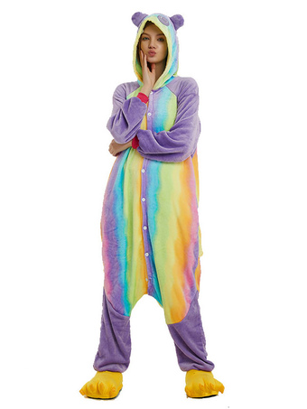 1d1ac7686640c7 Tutina Kigurumi Pigiama Rainbow Panda Adult Flanella Easy Tuta da toilette