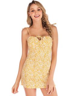 8ce94bb69 Vestido corto de verano sin espalda impresa mini vestido de las mujeres sin  mangas