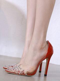 f26cbbb8c الأحذية وأشار أحمر عام2019الكعب العالي الإناث المسامير الكعب العالي تنزلق  على المضخة