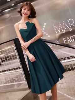 6e172ec80c Vestido de cocktail lindo chá de comprimento a linha Strapless Bows Social  Party Prom Dresses