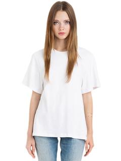 73d7866d9 Mangas cortas Camisetas Blanco puro Algodón Recortado Nudo Casual Mujer  Camiseta